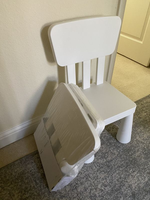 Small white kids chair