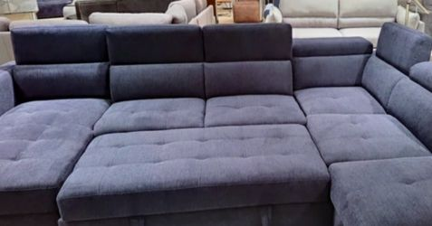 Price Online‼️ 4 Pcs Storage Sleeper Sectional Sofa and Ottoman • Delivery • Assembly • FREE Financing ‼️Same as cash for Sale in Las Vegas,  NV