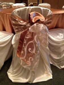 Satin Chair Covers - white and cream available! for Sale in Longview, TX