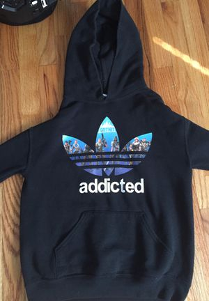 Fortnite Hoddie Adidas addicted hoodie for Sale in St. Louis, MO