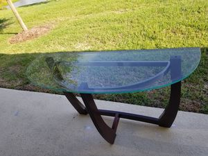 Console table with glass top for Sale in Gibsonton, FL