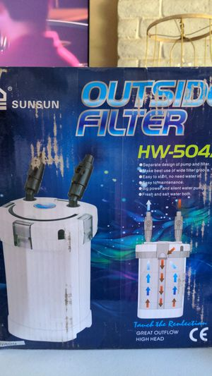 Aquarium fish tank canister filter SunSun Outside Filter HW-504A for Sale in Fresno, CA