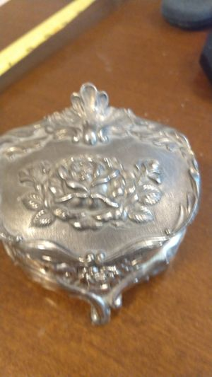 Victorian pewter jewelry case for Sale in North Chesterfield, VA