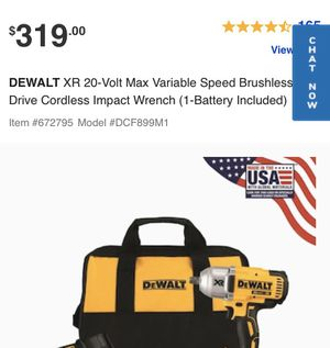 DeWALT XR 20v high torque impact wrench for Sale in Tukwila, WA