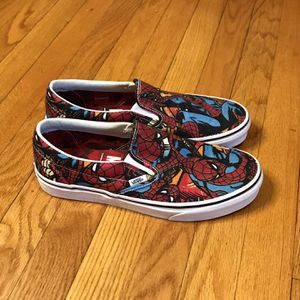 Vans x Marvel SPIDERMAN Slip-On Shoes (Worn Once) Mens Sizes 9.5 SPIDER MAN for Sale in French Creek, WV