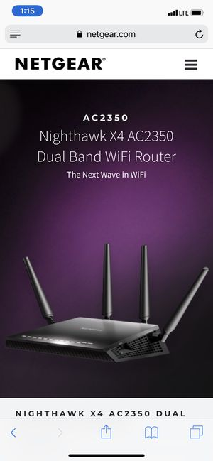 Netgear Nighthawk 4X Router for Sale in Marion, IL