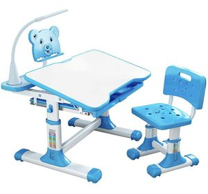 WDNMD BLUE Kids Desk and Chair Adjustable Set LED Home School for Sale in Litchfield Park, AZ