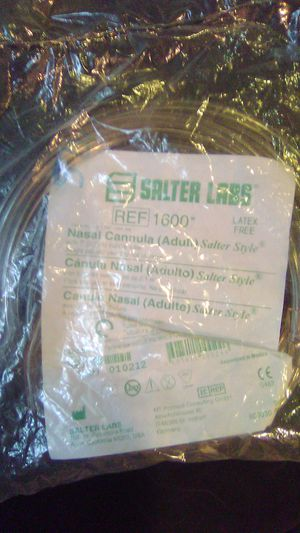 Salter Labs Ref 1600 Nasal Cannula style 8 for Sale in Lafayette, LA