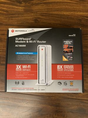 ARRIS MODEM&WIFI ROUTER SBG6782 AC- LIKE NEW for Sale in Anaheim, CA