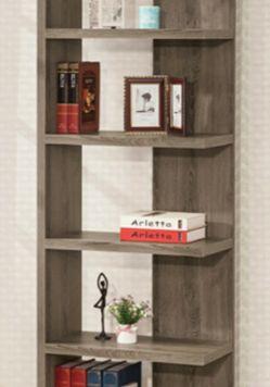Optical grey bookshelf for Sale in San Leandro,  CA