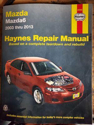 Mazda 6 haynes repair manual for Sale in Reedley, CA