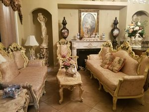 Antique Victorian living room set w 3 marble top tables for Sale in Tampa, FL