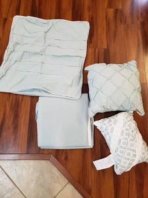 FREE king bedskirt and decorative pillows for Sale in Sun City, AZ