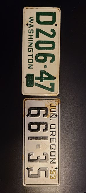 Small metal license plates for Sale in Springfield, OR