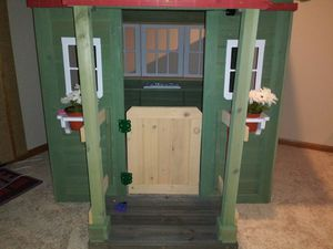 Rustic BIG Wooden Playhouse Victorian Cedar Kids Outdoor Fun Play w/ Accessories for Sale in Wichita, KS
