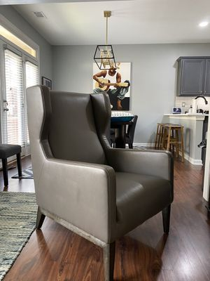 Four Hands Leather High Back Chair for Sale in Atlanta, GA