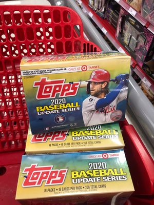 2020 Topps Update Baseball Sealed Mega Box Target Exclusive**256 Cards!** for Sale in Portland, OR