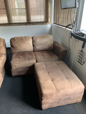 L shape couch and ottoman for Sale in New Cumberland, PA
