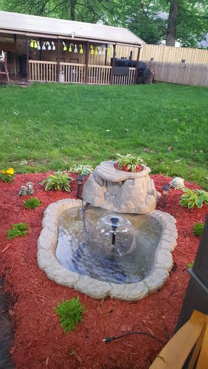 Patio pond with waterfall and fountain for Sale in Beltsville, MD