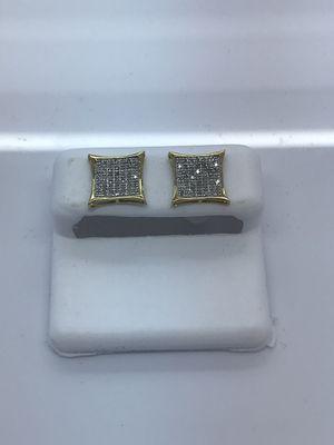 10k yellow gold earrings with .33 carat diamonds for Sale in Renton, WA