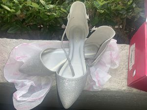 Silver dressy flats for Sale in Los Angeles, CA