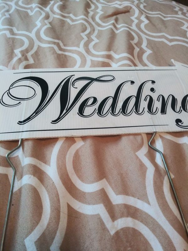 "Wedding directional sign 24"" long"
