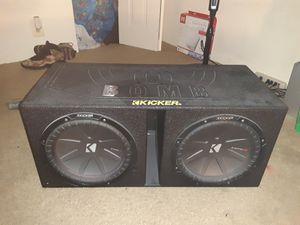 2 kicker 12,inch subz and Qboom sub box for Sale in Washington, DC