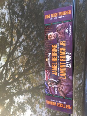 Boxing tickets! $10!! for Sale in Fresno, CA