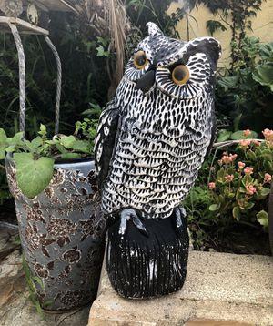 Garden Outdoor Owl Figurine Decore for Sale in El Cajon, CA