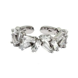 Small crystal tiles silver ring for Sale in Redwood City, CA