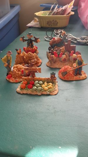 7 harvest figurines for Sale in Tacoma, WA