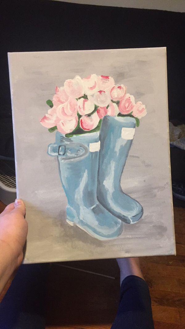 Rainboot Painting