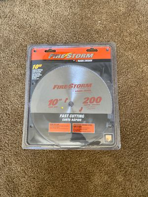 """Black & Decker Fire Storm 10 """" Table Saw Blade for Sale in Las Vegas, NV"""