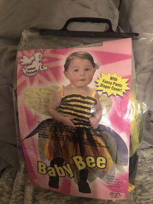 Baby Bee Costume one size fits up to 24 months with wings for Sale in Salt Lake City, UT