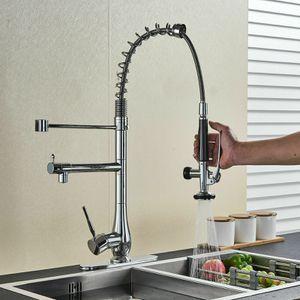 Kitchen Sink Faucet Chrome Brass Swivel Pull Down Spray for Sale in Tamarac, FL