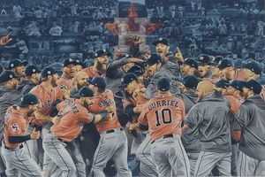 HOUSTON Astro's 2017 World Series Champs Limited Edition Lithograph prints from original Texas Artist painting for Sale in Houston, TX