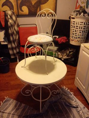 Miniature wrought iron table with two chairs for Sale in Lexington, KY