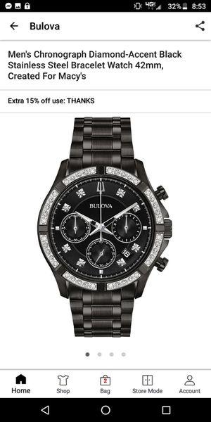 NWT Bulova Men's Watch MSRP$750+ for Sale in Kent, WA