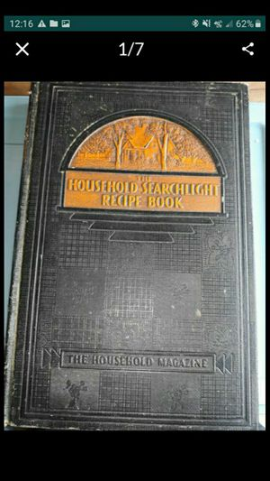 IL. 1938 COOKBOOK. SEARCHLIGHT. for Sale in Bolingbrook, IL