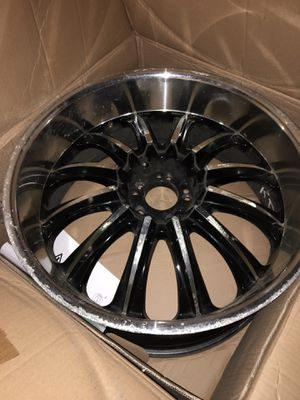 Velocity Rims 22x9.5 deep dish alloy with black spokes. Used with scratches that can be smoothed out professionally. Sold as is for Sale in Tracy, CA