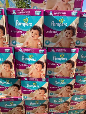 Pampers size 4 diapers new (124 count) $25 each box for Sale in El Monte, CA