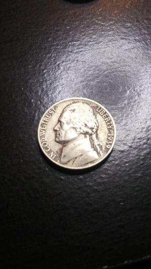High Grade - Rare 1939-D Jefferson Nickel (Key Date) for Sale in Wenatchee, WA