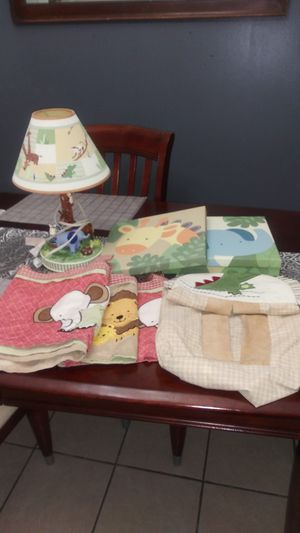 Se baby room animals lamp pamper hanger curtain. Picture for Sale in Philadelphia, PA
