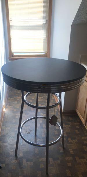 Black and chrome pub table brand new for Sale in Murfreesboro, TN