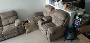 Reclining sofa / couch set - need to sell ASAP for Sale in Miami, FL