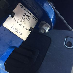 2 Keystone butterfly valves with delta control products GM24-SR and pipe attachment (???) for Sale in San Diego, CA
