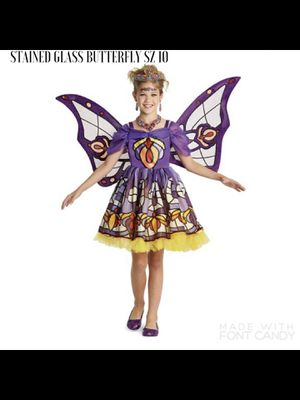 NEW Wishcraft Chasing Fireflies Stained Glass Butterfly Halloween Costume Girls 10. for Sale in McLean, VA