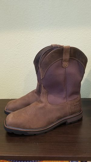 ARIAT GROUNDBREAKER H2O SQUARE SAFETY TOE WORK BOOT SIZE 13EE for Sale in Riverside, CA
