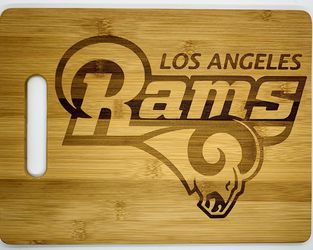 LA Rams laser engraved bamboo high quality cuttingboard pop gift for Sale in Los Angeles,  CA