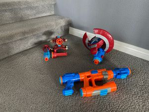 3 Marvel Avengers Nerf Blasters - Iron Man, Captain America, Star Lord for Sale in Carlsbad, CA